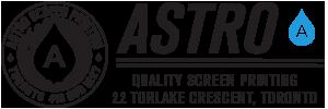 Astro Screen Printing Logo